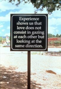 Love Park, 1999, SITE Sante Fe Third International Biennial, Installation View, Amer 3